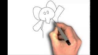 Drawing Elly from Pocoyo | Dibujo Elly de Pocoyo