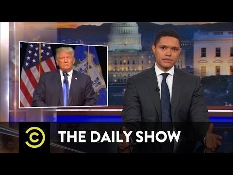 "Thumbnail: The Media Falls for ""Presidential"" Trump (Again): The Daily Show"
