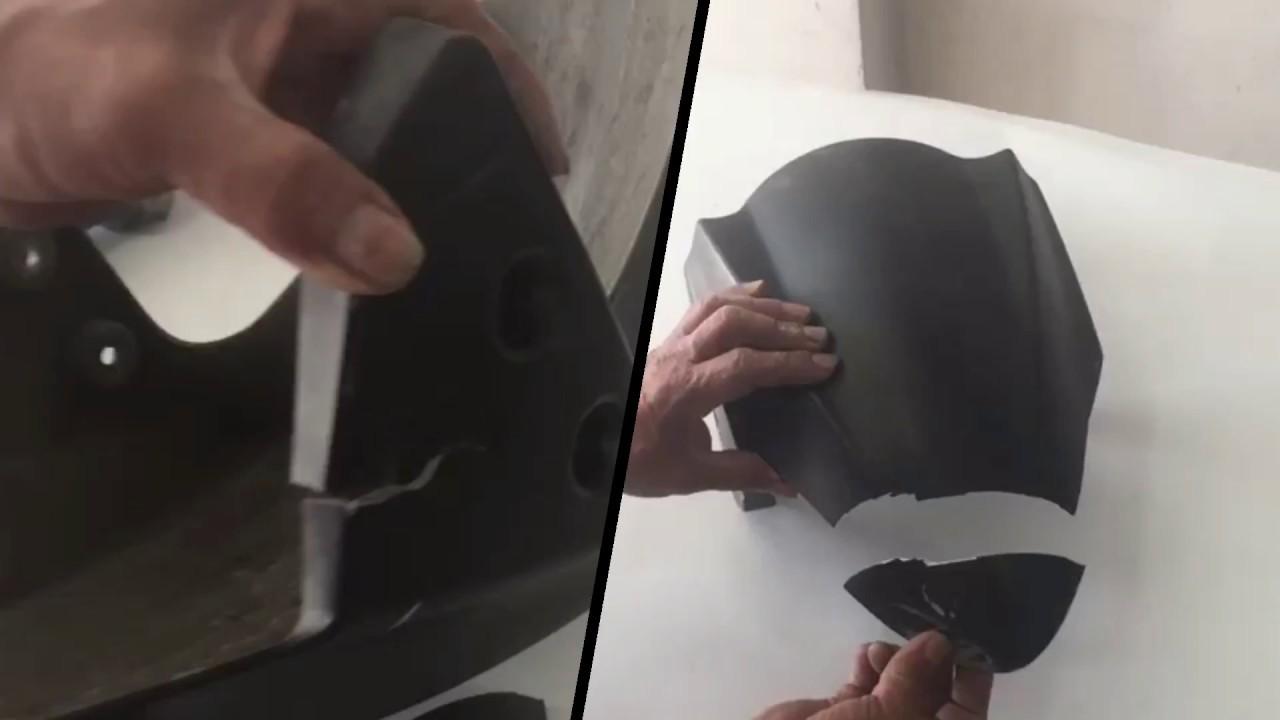Reparación De Guardabarros En Fibra De Vidrio Moto Youtube