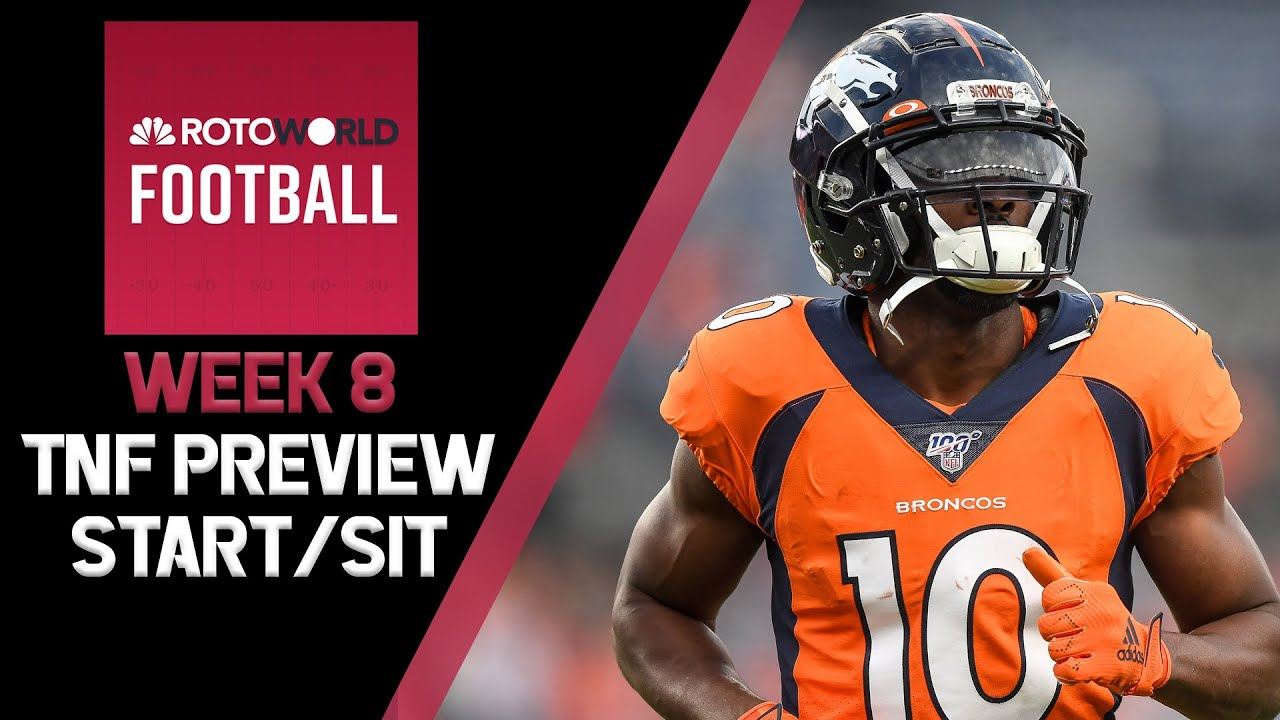Fantasy Football news, Week 8 start/sit, Backfield review, TNF preview | Rotoworld Football Podcast