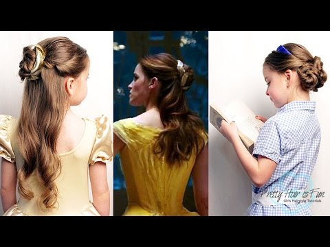 Beauty and the beast belle hair tutorial