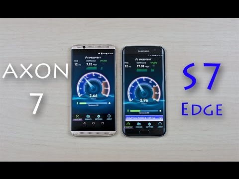 ZTE Axon 7 vs Samsung Galaxy S7 Edge - Speed Test Comparison Review! (Curiosity Test)
