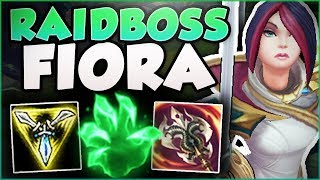 WTF! NEW GRASP FIORA LETS YOU LIVE FOREVER?! RAIDBOSS FIORA SEASON 8 TOP GAMEPLAY! League of Legends thumbnail