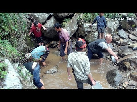 Hunting - Amazing  Fishing Trap in the river in Nepal  -Nepali Traditional Fishing Trap