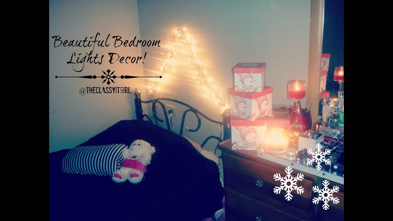 Christmas DIY DecorBeautiful Bedroom Lights YouTube - Xmas lights in bedroom
