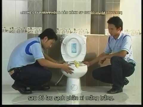 (18+ ehome 37666909) Huong dan lap dat Bet Cotto (bon cau) bang Xi Mang