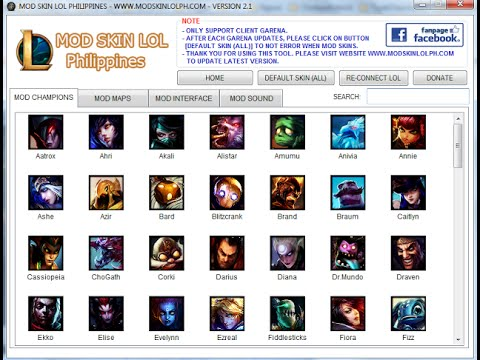 How to Use Mod Skin LOL Philippines  ModSkinLOLPH com