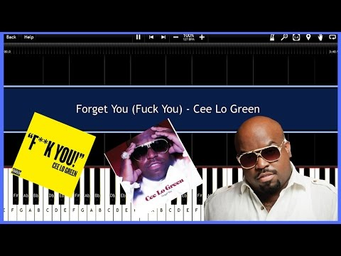Forget You F**k You  Cee Lo Green Synthesia Tutorial Instrumental  Download