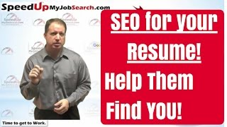 SEO for your Resume! How To Be Found Online by Employers - 4:32