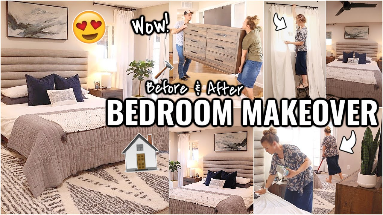 COMPLETE BEDROOM MAKEOVER!!😍 BEFORE AND AFTER OF OUR ARIZONA FIXER UPPER