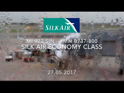 Silk Air MI 922 SIN - XMN B737-800 Economy Class Flight Report