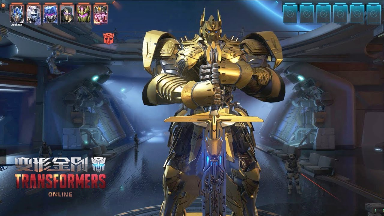 eaa6485208a8 TRANSFORMERS Online - Optimus Prime Golden Warriors The Last Knight Skin  Control Mode MVP Gameplay