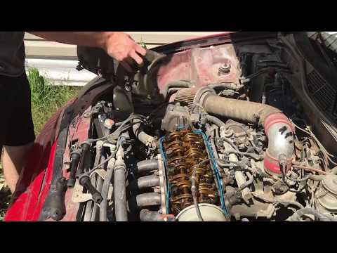 Wrecking A Honda Civic Into A Tree And Pouring Soda Into The Engine!