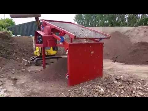 NEW TEST SOIL WASTE SCREENER ON SOIL DIRT BRICKS FITTED ROSTA SPRINGS