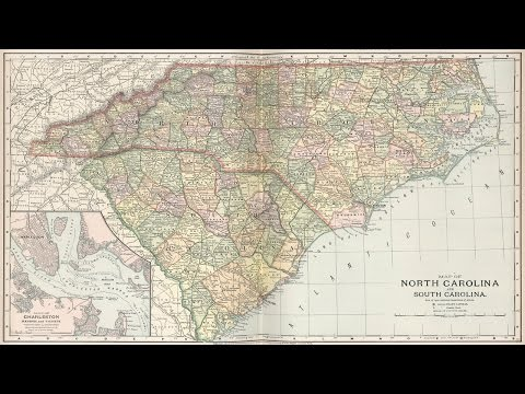 North and South Carolina History and Cartography (1891)