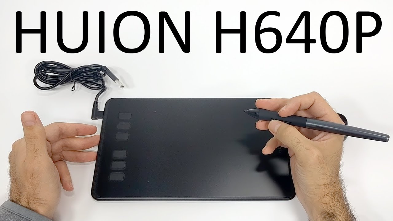 50 Graphic Tablet With 8192 Levels Huion H640p Review Youtube