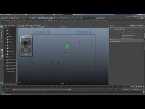 Maya Python Game Demo (Frogger)