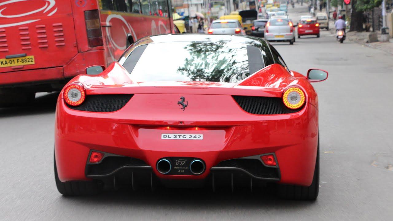 Elegant Ferraris In INDIA (Bangalore) 2015   YouTube