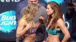 UFC 168: Ronda Rousey vs. Miesha Tate 2- full weigh in