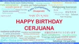 Cerjuana   Languages Idiomas - Happy Birthday