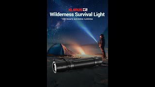 E2 Wilderness Survival Light 1600LM, USB charging, Fifth Gen. Tail Dual Switch, 3600mAh Battery.