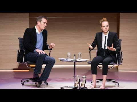 Cara Delevingne interviewed by Rupert Everett