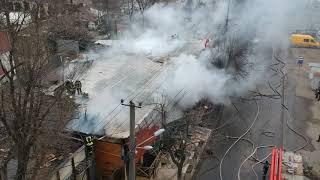 Сгорел ресторан на Фонтане
