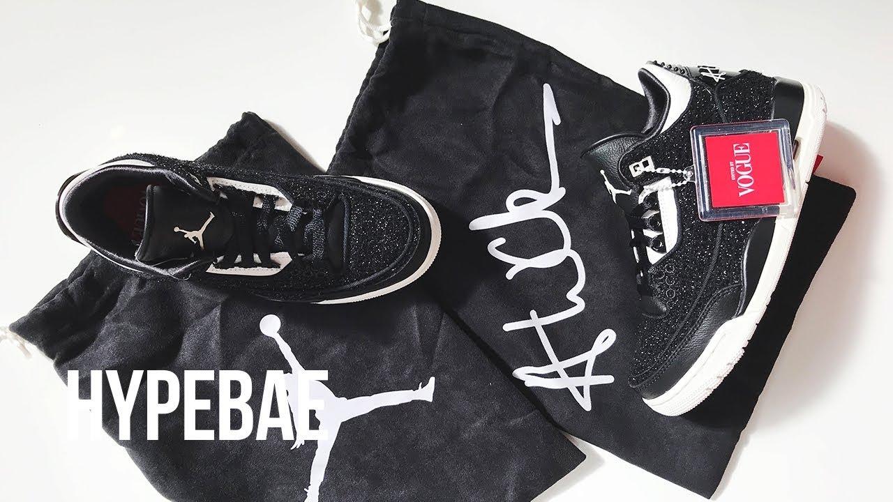 42d2e6c0453768 Vogue x Nike s Air Jordan 3 Unboxing - YouTube