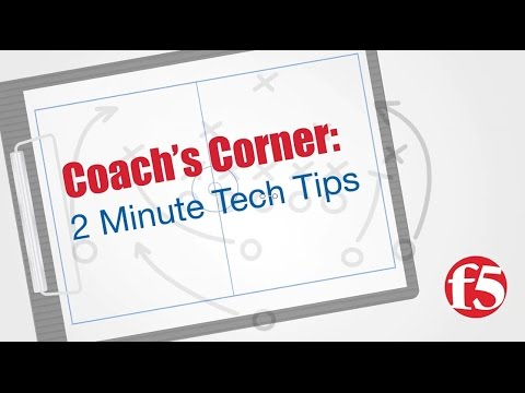 2 Minute Tech Tip: iControl REST with curl