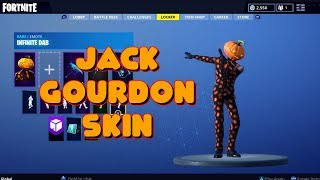 NUOVO JACK GOURDON PUMPKIN HEAD SKIN IN-GAME FORTNITE SHOWCASE