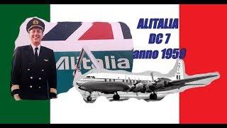 Alitalia anno 1959 Roma - Milano - Parigi - New York