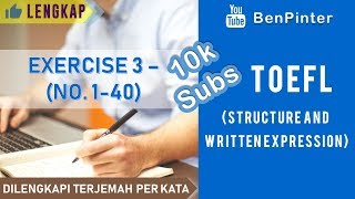 Download lagu Soal dan Pembahasan TOEFL (Structure and Written Expression) | Exercise 3 No. 1-40 (10k Subs)