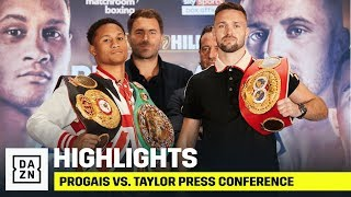 HIGHLIGHTS | Prograis vs. Taylor // Chisora vs. Parker Launch Press Conference