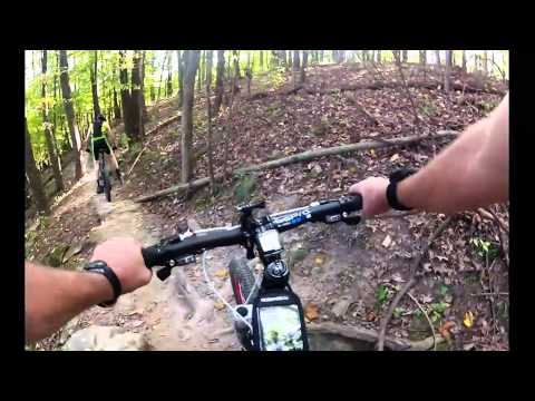 Hesitation Point trial Mountain Biking @ Brown County State Park  (down hill)