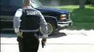 SWAT open fire on fleeing drug dealer