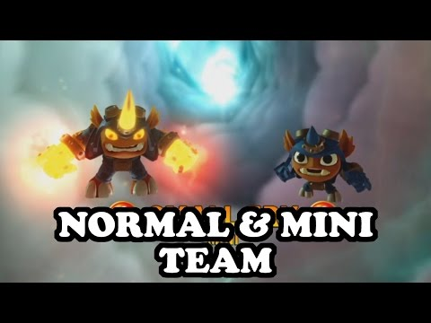 Skylanders Imaginators - Hog Wild Fryno & Small Fry GAMEPLAY - NORMAL & MINI TEAM