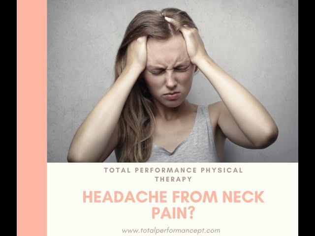 Headache from neck pain?