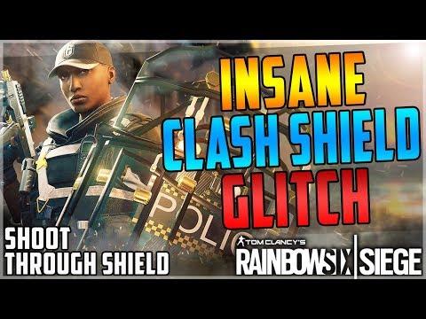 INSANE CLASH SHIELD GLITCH - SHOOT THROUGH YOUR SHIELD - OP GLITCH - TUTORIAL - (Rainbow Six Siege)
