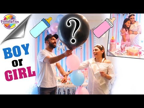 BABY GENDER REVEAL PARTY 🎉👶 - SURPRISE BOY or GIRL ? Geschlecht steht fest! Family Fun