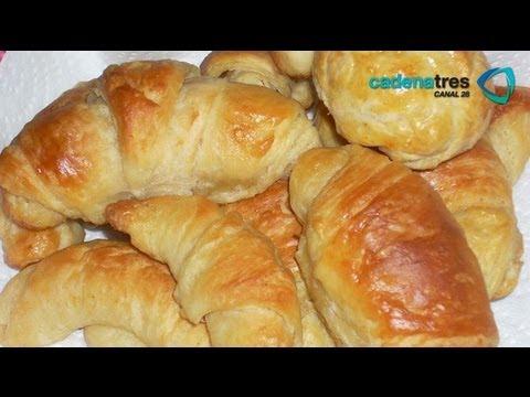 Receta para preparar cuernitos. Receta de cuernitos / Pan tradicional / Cuernitos tradicionales