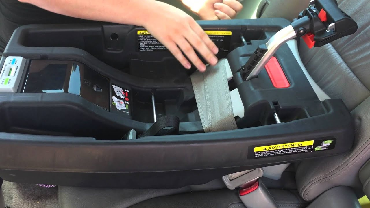 Asana35 Infant Car Seat Installation - YouTube
