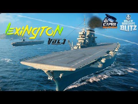 WOWS BLITZ Флот СТРАХ: Lexington VIII