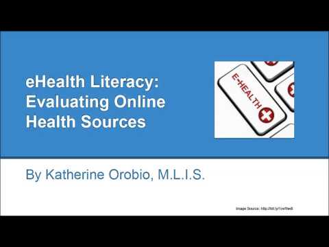 """LIS 526 Instruction Session on """"eHealth Literacy: Evaluating Online Health Sources"""""""