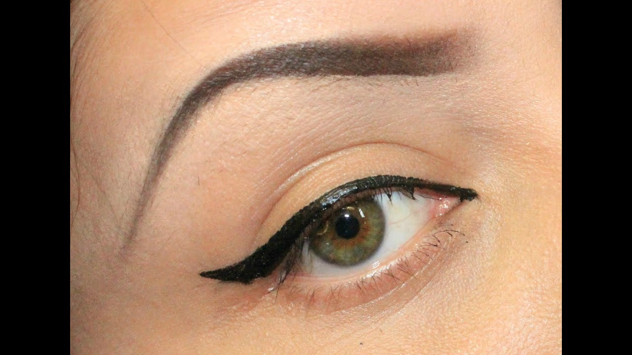 PERFECT WINGED(CAT EYE) TUTORIAL USING TAPE - YouTube