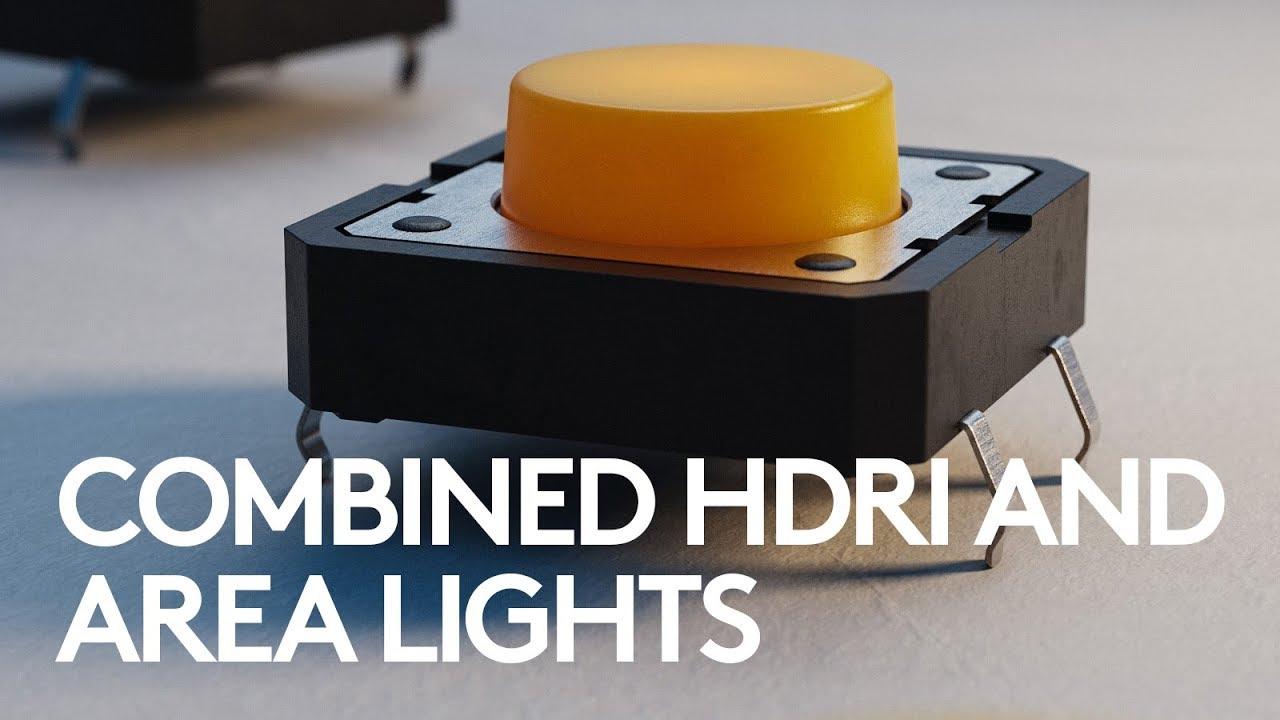 KeyShot Lighting Study: Combined HDRI and Area lights