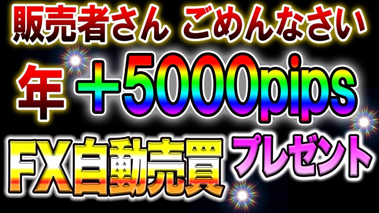 【無料プレゼント】販売者さんごめんなさい!年+5000pips FX自動売買プレゼント バイナリー