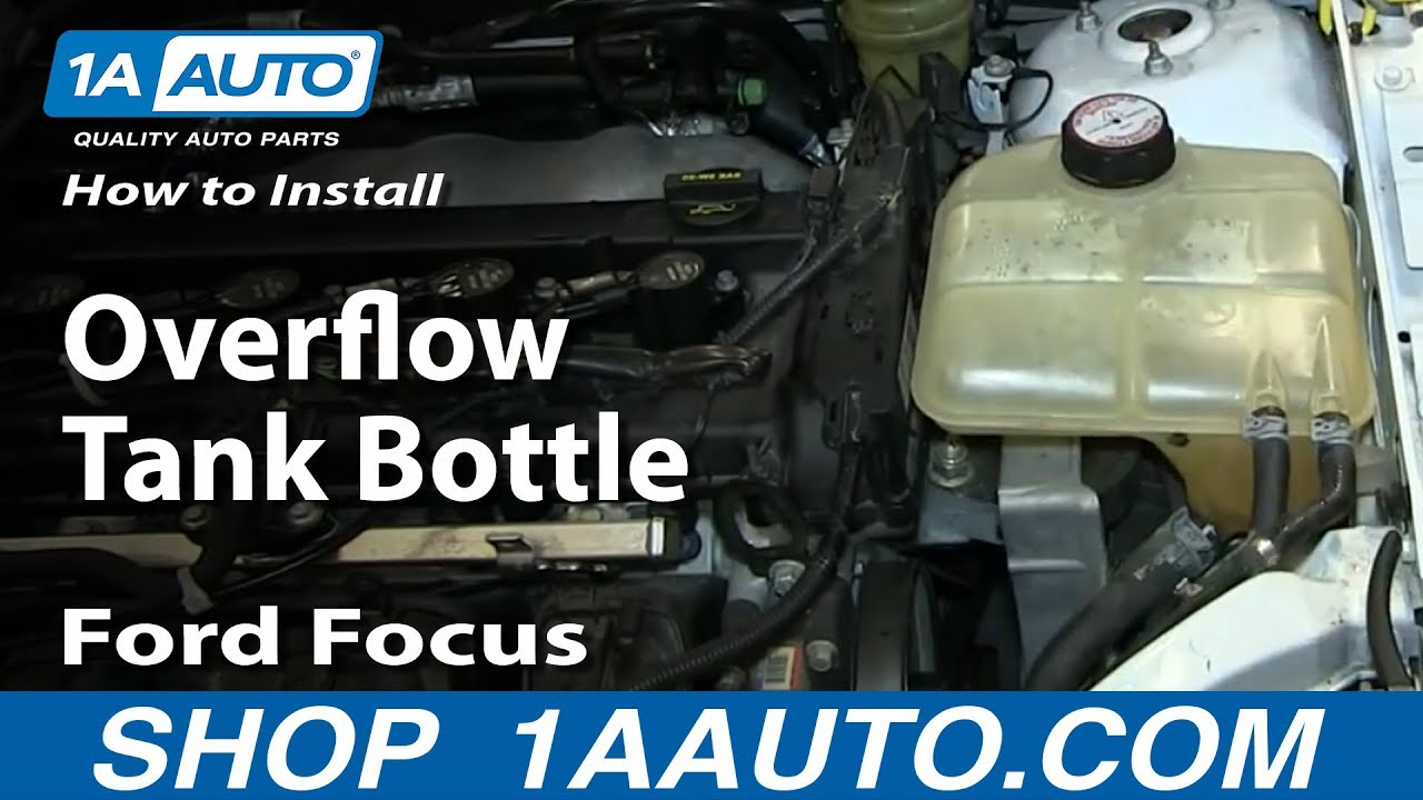 How To Install Replace Fix Cracked Radiator Coolant Overflow Tank Bottle 2000 07 Ford Focus