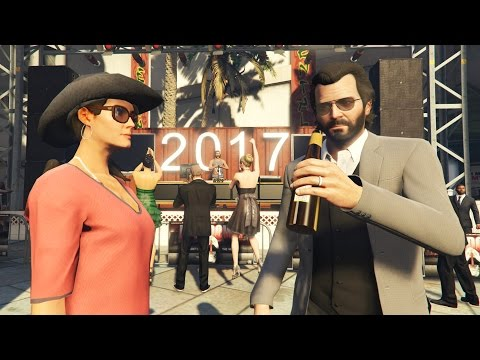 GTA 5 Real Life Mod #39 - NEW YEARS 2017 PARTY!! (GTA 5 Mods