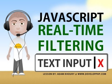 real time text input filter tutorial program textarea javascript html tutorial youtube