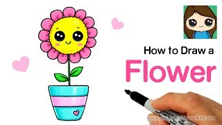 How to Draw a Flower Easy and Cute